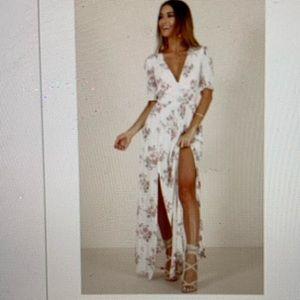 Show Po.  Long Floral Dress